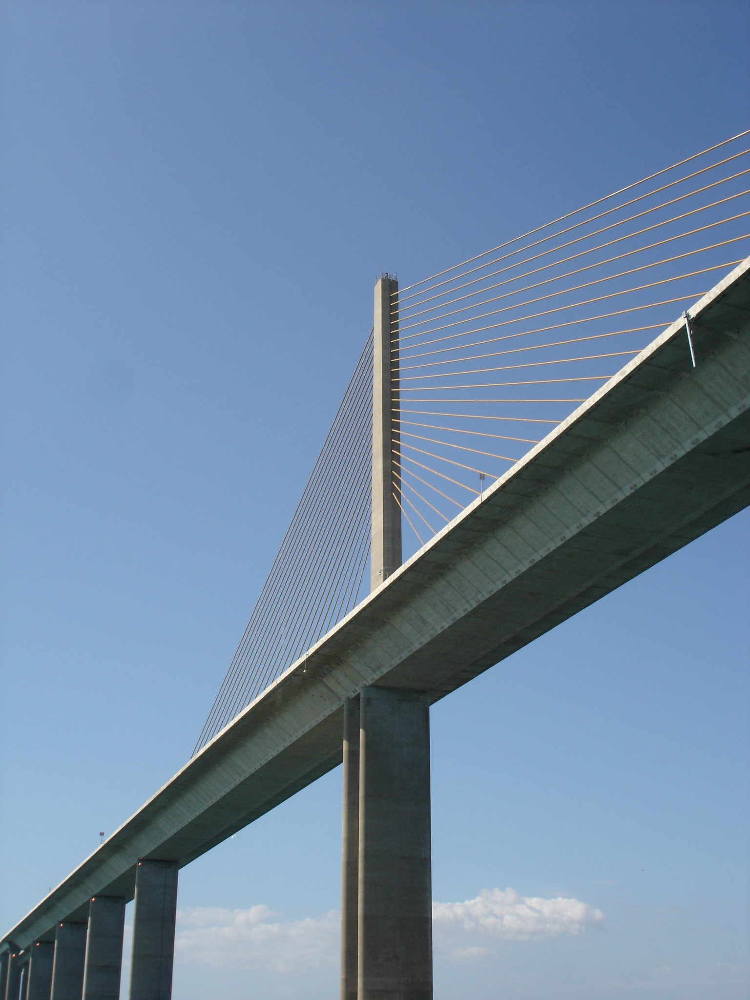 Under the Sunshine Skyway.