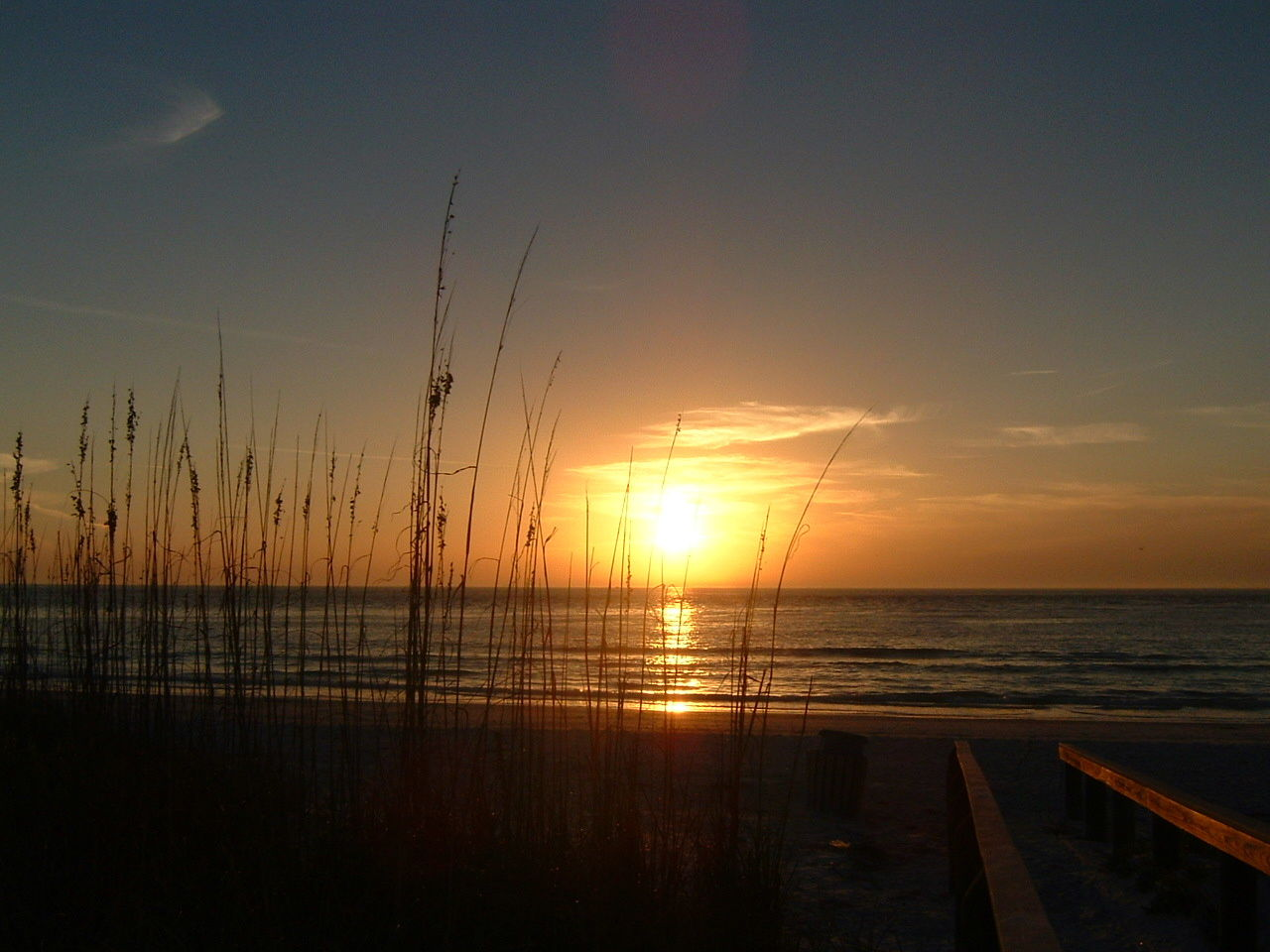 Sunset at Pass-a-Grille on St. Pete Beach.