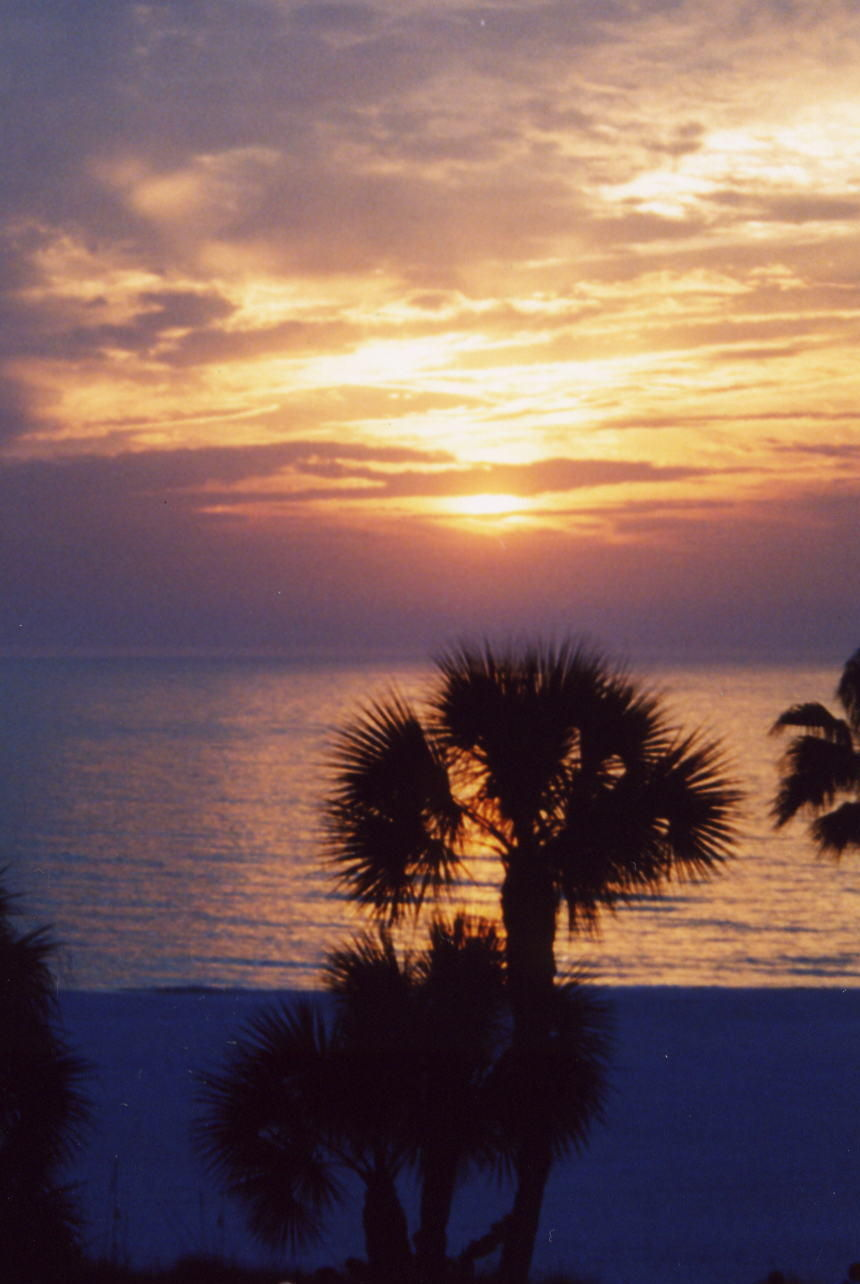 Sunset on the Gulf of Mexico, St. Pete Beach, Florida.